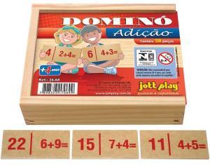 Brinquedo Educativo Dominó De Adição 28 Peças - JOTTPLAY