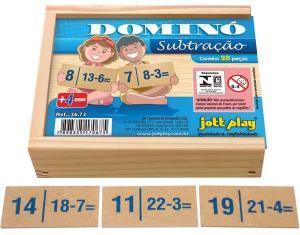 Brinquedo Educativo Dominó De Subtração 28 Peças - JOTTPLAY