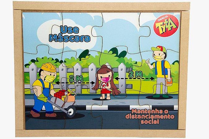 Brinquedo Educativo Kit Quebra Cabeça Da Tyta - Coronavírus 4 Jogos 80 Peças - CARLU