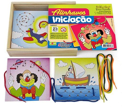 Brinquedo Educativo Alinhavos Iniciação Com 5 Placas - JOTTPLAY