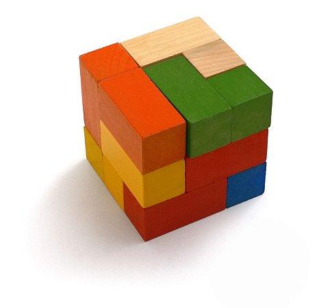Brinquedo Educativo Cubo Mosaico Componível Com 7 Peças - JOTTPLAY