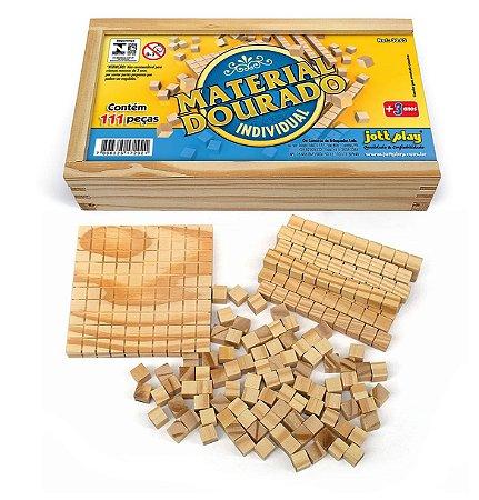 Brinquedo Educativo Material Dourado Individual 111 Peças