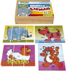 Brinquedo Educativo Quebra Cabeça Silábico De Animais - JOTTPLAY