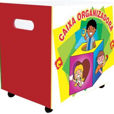 Caixa Organizadora Em MDF Com Rodas 63x42x57 Cm - Carlu