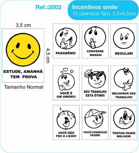 Carimbos Pedagógicos Psico Avaliação Modelo Smile - Fundamental