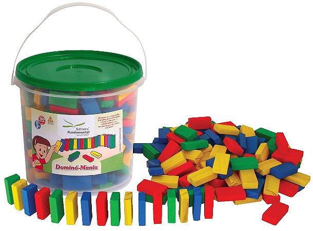 Dominó Mania - Brinquedo Educativo  292 Peças Mdf Coloridas