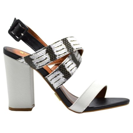 Sandália Croco Black&White