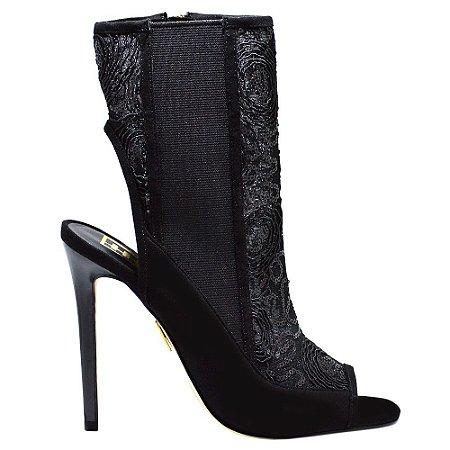 Sandal Boot ''Lucille'' em Renda Preta by DRSKA