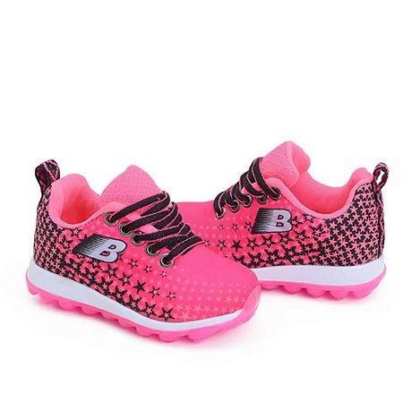 32a3815f0c6 Tênis infantil meninas Pink Preto Botinho - MercadoCalçados