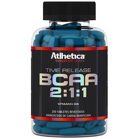 BCAA Time Release 2:1:1 - 200 cápsulas - Atlhetica