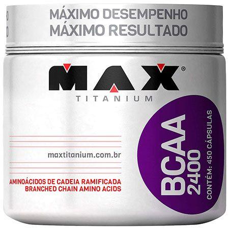 Bcaa 2400mg - 450 cápsulas - MAX Titanium