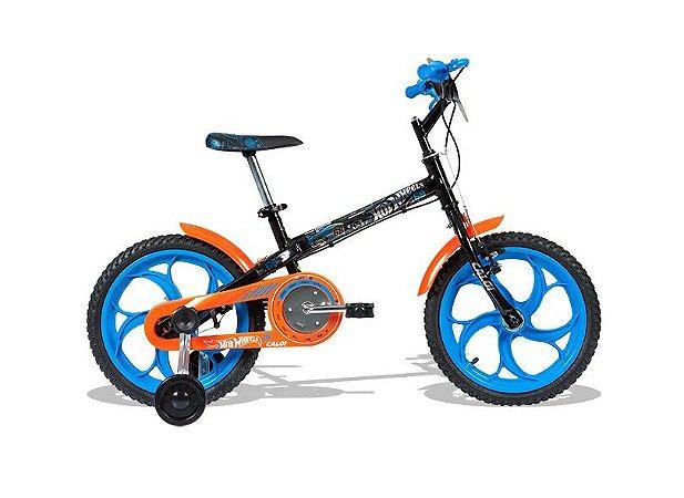 Bike aro 16 Caloi Hot Wheels 2017