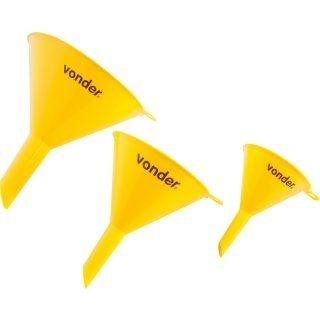 Jogo de funis plásticos com 3 peças Vonder