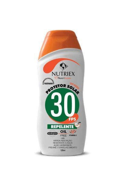 Proteção Solar Profissional FPS 30 com Repelente 200ml - Nutriex