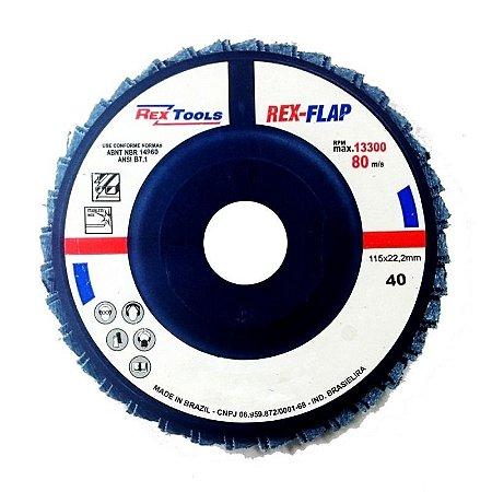 Flap Disc Reto 4.1/2 Grão 80 - Rex