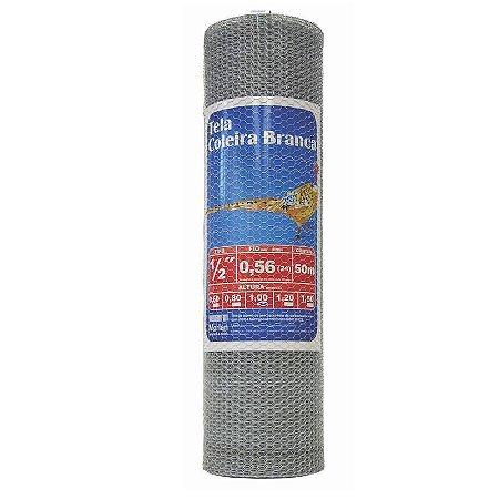 "Tela Viveiro Galvanizada Altura 1,00m rolo 50 metros BWG26 Malha 1/2"" - Morlan"