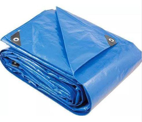 Lona Polietileno 8x5m Azul 200 Micras Reforçada