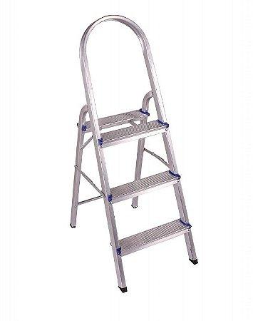 Escada Em Alumínio Doméstica 3 Degraus BelFix Promoção