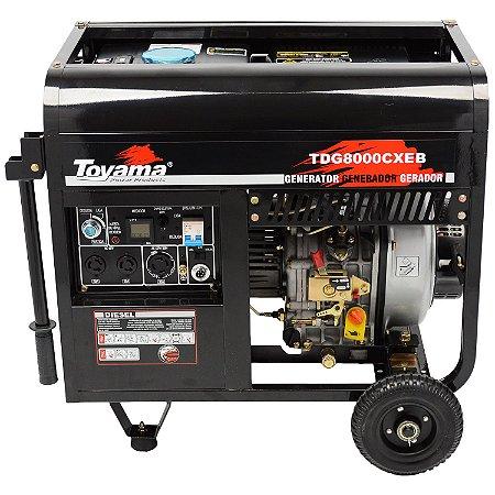 Gerador De Energia A Diesel 6500w TDG8000CXEB - Toyama