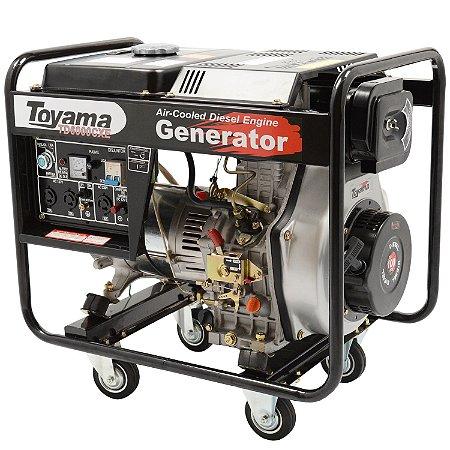 Gerador De Energia A Diesel 5500w Td6000cxe Bivot - Toyama