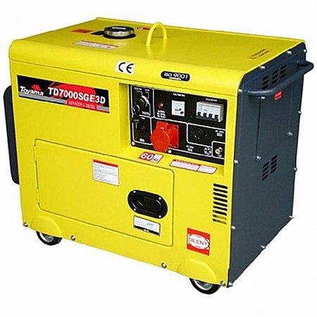 Gerador Energia Diesel Silenciado Td7000sge3d 6,5 Kva - Toyama