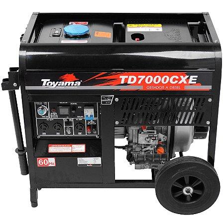 Gerador A Diesel 6000w Td7000cxe 127/220v Monofásico - Toyama