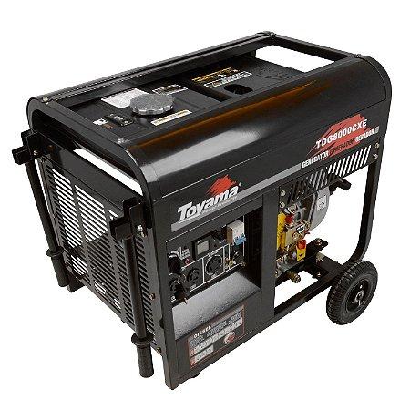 Gerador A Diesel 6500w Tdg8000cxe 127/220v - Toyama
