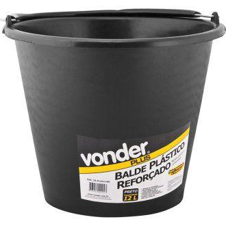 Balde Plástico Para Concreto Reforçado 12 Litros - Vonder Plus