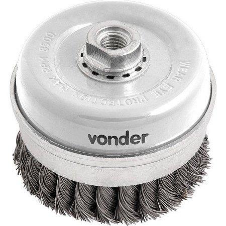 Escova Tipo Copo 4 Aço Carbono Torcida Industrial - Vonder