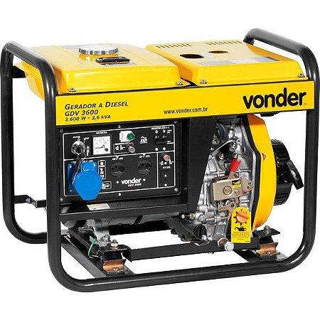 Gerador A Diesel Gdv 3600 127v/220v Vonder