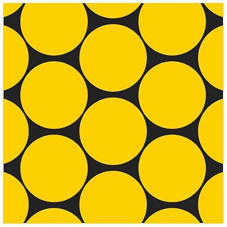 Adesivo de azulejo circulo amarelo