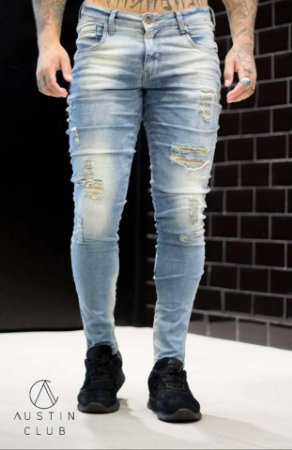 71e2eee2c Calça Jeans Destroyed Super Slim 8932 - Austin Club - Imperium Store ...
