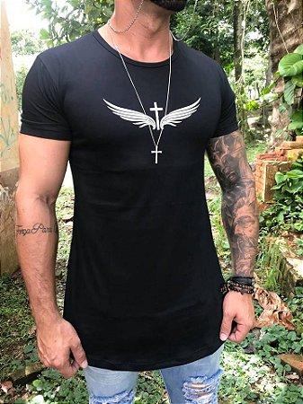 e613de859 Camiseta Longline Angel Black - The Hope - Imperium Store - Shopping ...