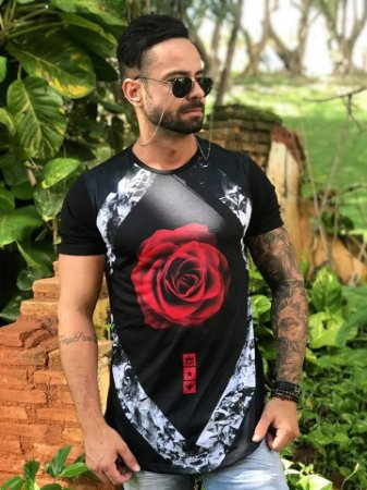 Camiseta Longline Rose - Evoque - Imperium Store - Shopping Online ... 866029b97e2