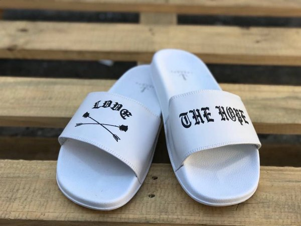 Chinelo Slide Love White - The Hope
