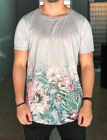 Condições de Venda Imperium Store. Camiseta Longline Grey Floral - Austin  Club e348b46dafab7