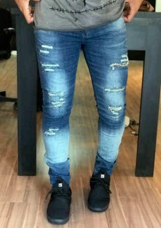 2b1a2c20a Calça Jeans Super Slim Destroyed 8918 - Austin Club - Imperium Store ...