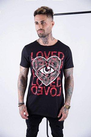 Camiseta Longline Loved Black - Alltribe