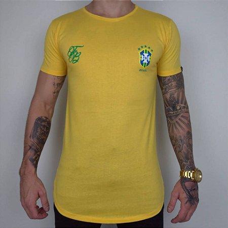 0f2cc286f Camiseta Longline Brasil Amarela - FB Exclusive Clothing Clothing ...
