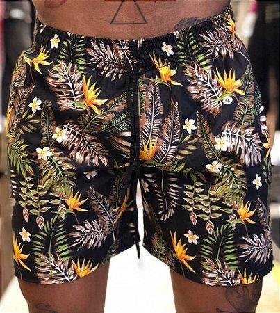 Shorts Flores Black - Lacapa