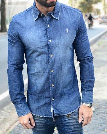 Camisa Social Jeans Destroyier Vinta - Zip Off
