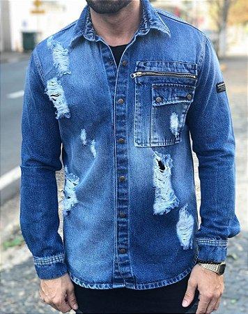 3a5f7a7c9 Jaqueta Jeans Destroyed Details - Degrant - Imperium Store ...