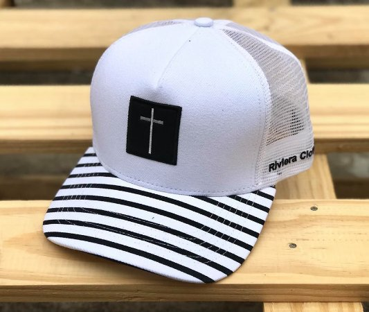 24f506896d860 Boné Trucker Cross White - Riviera Clothing - Imperium Store ...