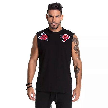 Regata Machão Patch Roses - La Mafia - Imperium Store - Shopping ... f37aff99df2