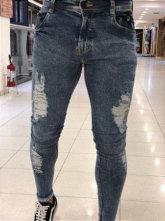 34a8cecba Calça Jeans Skinny Destroyed Marmorizado Xadrez - Degrant - Imperium ...