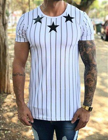Camiseta Longline Three Stars - Hundred Limit