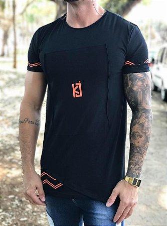 Camiseta Longline Details Orange - King Joy