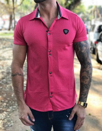 Camiseta Gola Polo Premium Pink - Kawipii