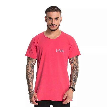 Camiseta Longline Triangle Red - La Mafia