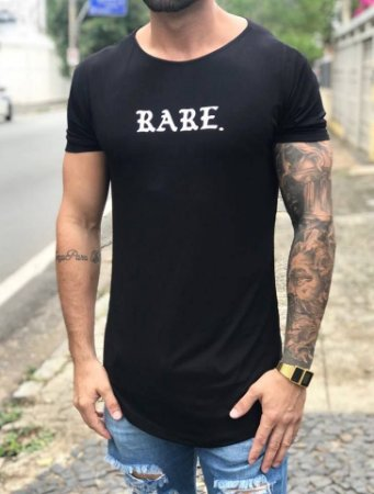 Camiseta Longline Rare Black - Alltribe